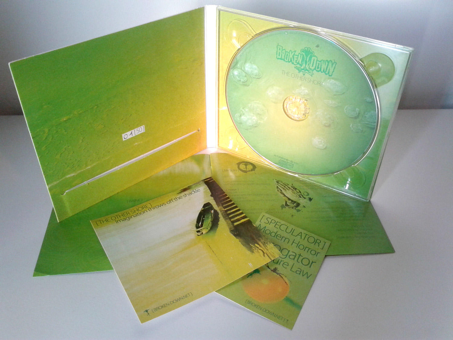 Broken Down The Other Shore limited digipack CD and goodie
