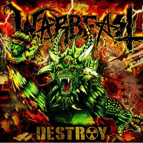 WARBEAST Destroy LP rouge transparent