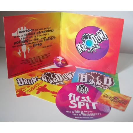 BROKEN DOWN First Spit Mint Pack CD + goodies