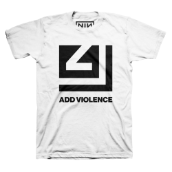 NINE INCH NAILS Add Violence cutout T-Shirt blanc