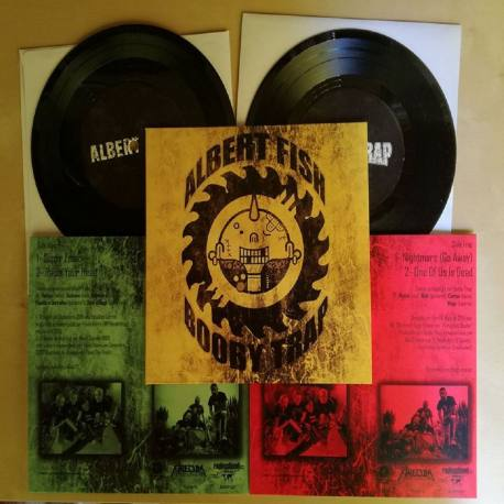 "ALBERT FISH / BOOBY TRAP split 7""EP green vinyl - hardcore punk"